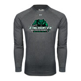 Under Armour Carbon Heather Long Sleeve Tech Tee-Binghamton University Bearcats Official Logo