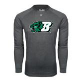 Under Armour Carbon Heather Long Sleeve Tech Tee-Bearcat Head w/ B