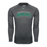Under Armour Carbon Heather Long Sleeve Tech Tee-Arched Binghamton University Bearcats