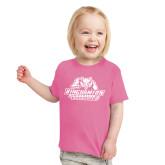 Toddler Fuchsia T Shirt-Binghamton University Bearcats Official Logo
