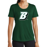 Ladies Performance Dark Green Tee-B
