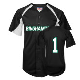 Replica Black Adult Baseball Jersey-#1