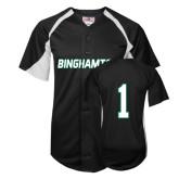 Replica Black Adult Baseball Jersey-#1