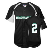 Replica Black Adult Baseball Jersey-#2