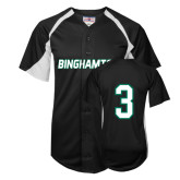 Replica Black Adult Baseball Jersey-#3