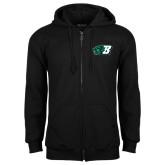 Black Fleece Full Zip Hood-Bearcat Head w/ B