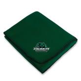 Dark Green Arctic Fleece Blanket-Binghamton University Bearcats Official Logo
