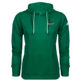 Adidas Climawarm Dark Green Team Issue Hoodie-Binghamton University Bearcats Official Logo