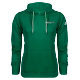 Adidas Climawarm Dark Green Team Issue Hoodie-Binghamton University Flat