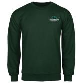 Dark Green Fleece Crew-Binghamton University Bearcats Official Logo
