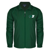 Full Zip Dark Green Wind Jacket-Bearcat Head w/ B
