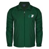 Full Zip Dark Green Wind Jacket-Bearcat Head w/ B