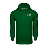 Under Armour Dark Green Performance Sweats Team Hoodie-Bearcat Head w/ B