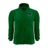 Fleece Full Zip Dark Green Jacket-Binghamton University Bearcats Official Logo