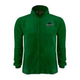 Fleece Full Zip Dark Green Jacket-Binghamton University Bearcats Official Logo