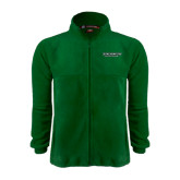 Fleece Full Zip Dark Green Jacket-Binghamton University Flat