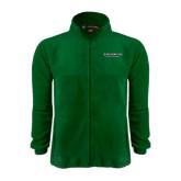 Fleece Full Zip Dark Green Jacket-Binghamton University Flat