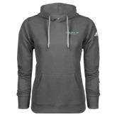 Adidas Climawarm Charcoal Team Issue Hoodie-Binghamton University Flat