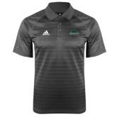 Adidas Climalite Charcoal Jaquard Select Polo-Binghamton University Bearcats Official Logo