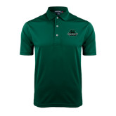 Dark Green Dry Mesh Polo-Binghamton University Bearcats Official Logo