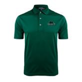 Dark Green Dry Mesh Polo-Binghamton University Bearcats Official Logo