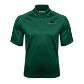Dark Green Textured Saddle Shoulder Polo-Binghamton University Bearcats Official Logo