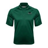Dark Green Textured Saddle Shoulder Polo-Binghamton University Bearcats Official Logo