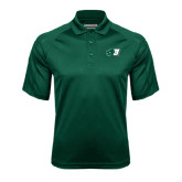Dark Green Textured Saddle Shoulder Polo-Bearcat Head w/ B