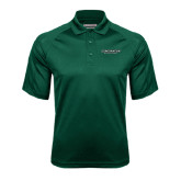 Dark Green Textured Saddle Shoulder Polo-Binghamton University Flat