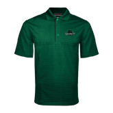 Dark Green Mini Stripe Polo-Binghamton University Bearcats Official Logo