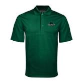 Dark Green Mini Stripe Polo-Binghamton University Bearcats Official Logo