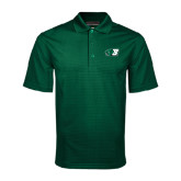 Dark Green Mini Stripe Polo-Bearcat Head w/ B