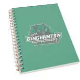 Clear 7 x 10 Spiral Journal Notebook-Binghamton University Bearcats Official Logo