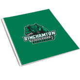 College Spiral Notebook w/Clear Coil-Binghamton University Bearcats Official Logo