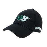 Black Twill Unstructured Low Profile Hat-Bearcat Head w/ B