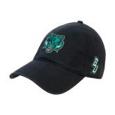 Black Twill Unstructured Low Profile Hat-Bearcat Head