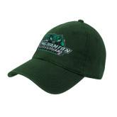 Dark Green Twill Unstructured Low Profile Hat-Binghamton University Bearcats Official Logo