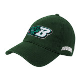 Dark Green Twill Unstructured Low Profile Hat-Bearcat Head w/ B