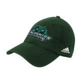 Adidas Dark Green Slouch Unstructured Low Profile Hat-Binghamton University Bearcats Official Logo
