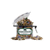 Snickers Satisfaction Small Round Canister-Binghamton University Bearcats Official Logo
