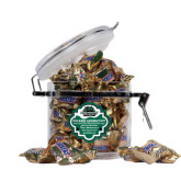 Snickers Satisfaction Round Canister-Binghamton University Bearcats Official Logo