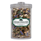 Snickers Satisfaction Large Round Canister-Binghamton University Bearcats Official Logo