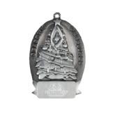 Pewter Tree Ornament-Binghamton University Bearcats Official Logo - Engraved