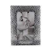 Silver Textured 4 x 6 Photo Frame-Binghamton University Flat - Engraved
