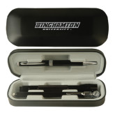 Black Roadster Gift Set-Binghamton University Flat - Engraved