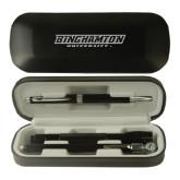 Black Roadster Gift Set-Binghamton University Flat - Engraved