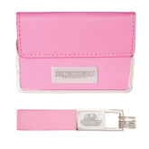 Business Card Case and Key Ring Set Pink-Binghamton University Flat - Engraved