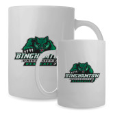 Full Color White Mug 15oz-Binghamton University Bearcats Official Logo