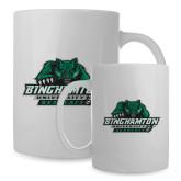 Full Color White Mug 15oz-Binghamton University Bearcats Official Logo