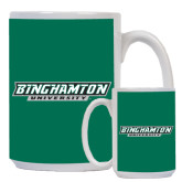 Full Color White Mug 15oz-Binghamton University Flat